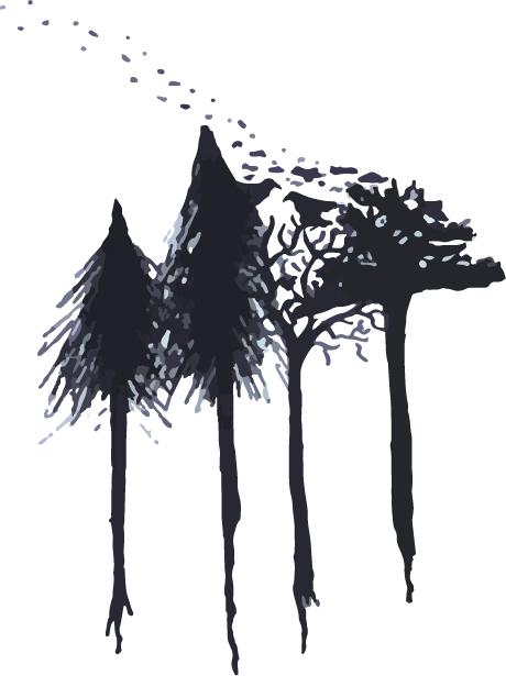 Graphic - Forest Celebration Raven & Pine 2018 (Midsummer night blue)