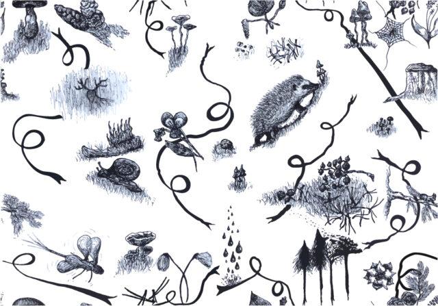 Pattern - Forest Celebration 2018 (Midsummer night blue)