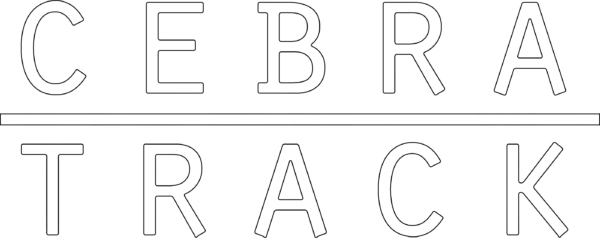 Cebratrack logo 2019  white + black outline